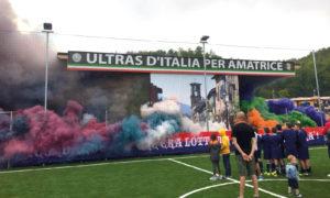 Ultras d'Italia per Amatrice - foto da ilgiornalelocale.it